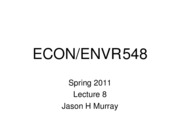 ECON 548 Spring 2011 Lecture 8