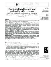 3.Emotional intelligence and leadership effectiveness