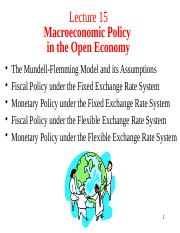Lecture 15. Macroeconomic Policy in the Open Economy.pptx