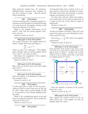 Homework 6- Rotational Motion-problems