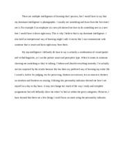 interpersonal intelligence essay Gardner's theory of multiple intelligences essay interpersonal intelligence philosophy is influenced by howard gardner's theory of multiple intelligences.