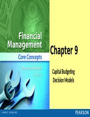 Chapter 9 PP (Capital Budgeting)