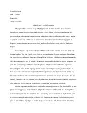 Julia Alvarez's Use Of Narratiin Response Paper.docx