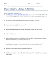 PhET Electric Charge Activities