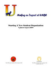 Forming a Student Organization Guide