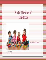YC 100 - Social Theories in Childhood.odp
