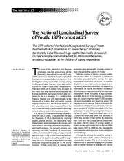 The National Longitudinal Survey of Youth 1979 cohort at 25