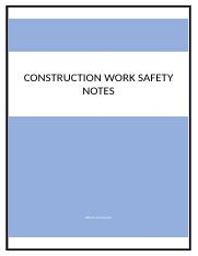 Construction Work Safety Notes.docx