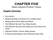 Chapter 5 2011 Mean Variance Portfolio Theory