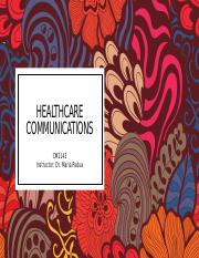 Healthcare Communication II.pptx