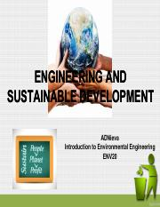 Engineering and Sustainable Development(1)