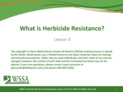 Final Lesson 3 092111 What is Herbicide Resistance