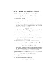 CPSC 513 Winter 2010 Midterm Exam Solutions