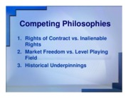 competing philosphies ppt