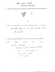MATH 10120 Fall 2006 Final Exam Solutions