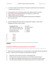 COMM 307 - SAMPLE FINAL EXAM QUESTIONS with SOLUTIONS  -  Rev March 2015