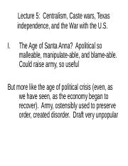 Lecture 5 Centralism Caste War and War with US.ppt