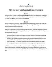 IT 201 Case Report Two Guidelines and Grading Guide