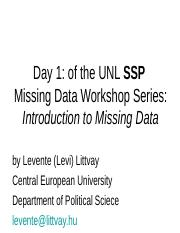 intro to missing data