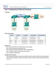 3.2.2.5 Lab - Configuring VLANs and Trunking