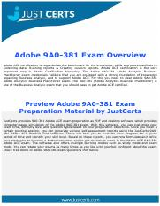 9A0-381 Adobe Analytics Business Practitioner Exam Questions