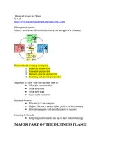 Balanced Scorecard Notes