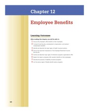 Chap 12 Employee Benefits.
