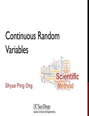 06 - Continuous Random Variables