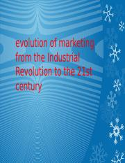 evolution of marketing from the Industrial Revolution to