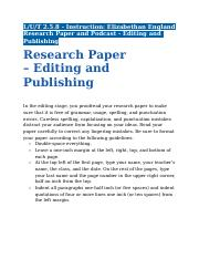 2.5.8 - Instruction - Elizabethan England Research Paper and Podcast - Editing and Publishing.docx