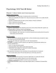 PSYCH 1010 Test 2B Notes (Module 7-10, 4-6)