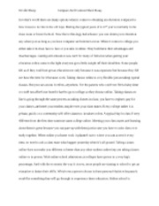 compare and contrast short essay