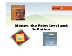 Sess 8 Money, Price Level and Inflation