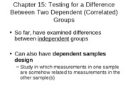 15 - Two Dependent Groups