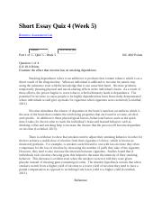 PSCY 324 Short Essay Quiz 4 Week5.docx