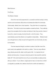 faith or reason essay