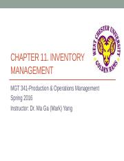 Ch11 Inventory Management  [Lecture PPT].pptx