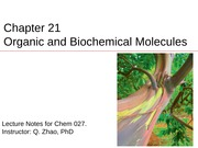 Ch.21 Organic and Biochemical Molecules