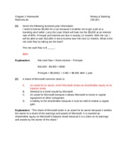 Chapter 2 Homework with Answers (MyEconLab)