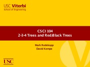 Lecture 21 - 2-3-4 Trees and Red Black Trees (USC CSCI 104 - Data Structures, OOP)