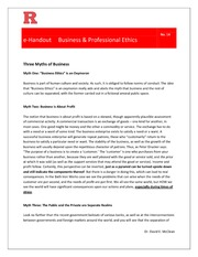 eHandout 14 - Three Myths of Business