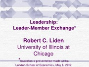 NEW - Leadership- LMX 2012