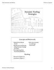 Dynamic Trading Lecture