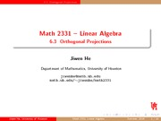 Orthogonal Projections Review