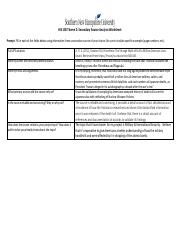 3-4-1 Activity: Secondary Source Analysis Worksheet