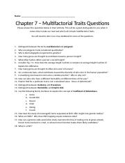 Ch 7. Multifactorial Traits Questions.docx