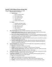 BusMGT 3230 Midterm Review Spring 2016
