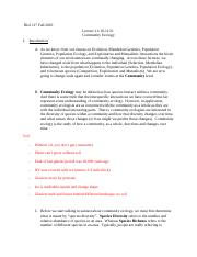 Lecture 34-35  Community Ecology.docx