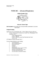 202 - Advanced Respiratory Syllabus