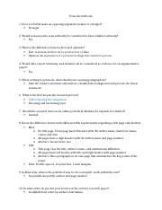 ENG 111-W1 Final Exam Study Guide